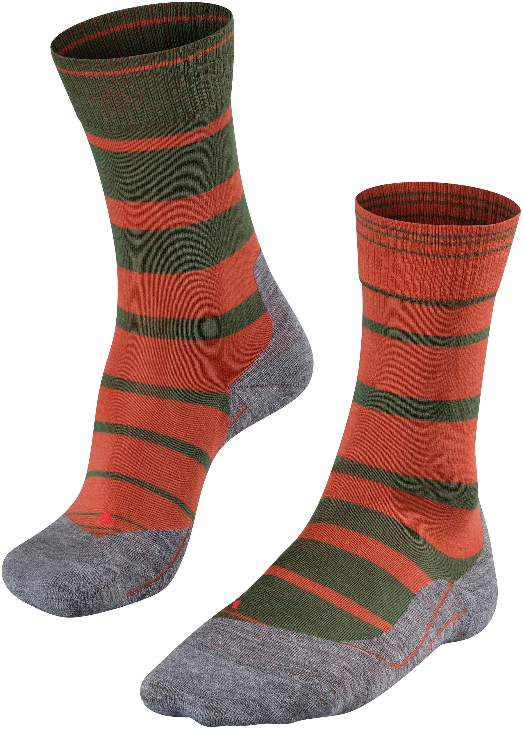639e95b32f4 Falke TK5 Stripe Sokken Heren oranje/olijf
